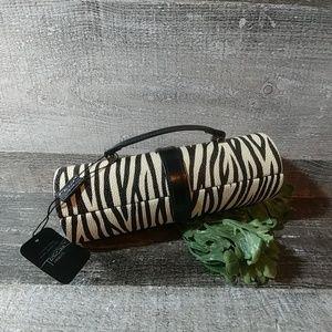 Tuscan designs travel zebra jewelry clutch